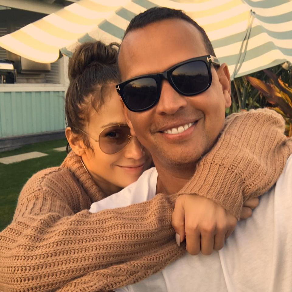 """<p>Lopez proudly — and frequently — posts photos of her and Rodriguez on her Instagram page. """"I understand him in a way that I don't think anyone else could, and he understands me in a way that no one else could ever,"""" the singer has <a rel=""""nofollow"""" href=""""https://www.vanityfair.com/style/2017/10/jennifer-lopez-alex-rodriguez-cover-story"""">shared</a>. (Photo: <a rel=""""nofollow"""" href=""""https://www.instagram.com/p/BYGT7C1lTvy/?hl=en&taken-by=jlo"""">Jennifer Lopez via Instagram</a>) </p>"""