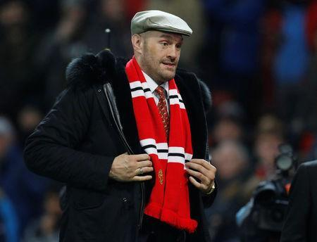 FILE PHOTO - Soccer Football - Premier League - Manchester United v Arsenal - Old Trafford, Manchester, Britain - December 5, 2018 Tyson Fury on the pitch at half time REUTERS/Darren Staples