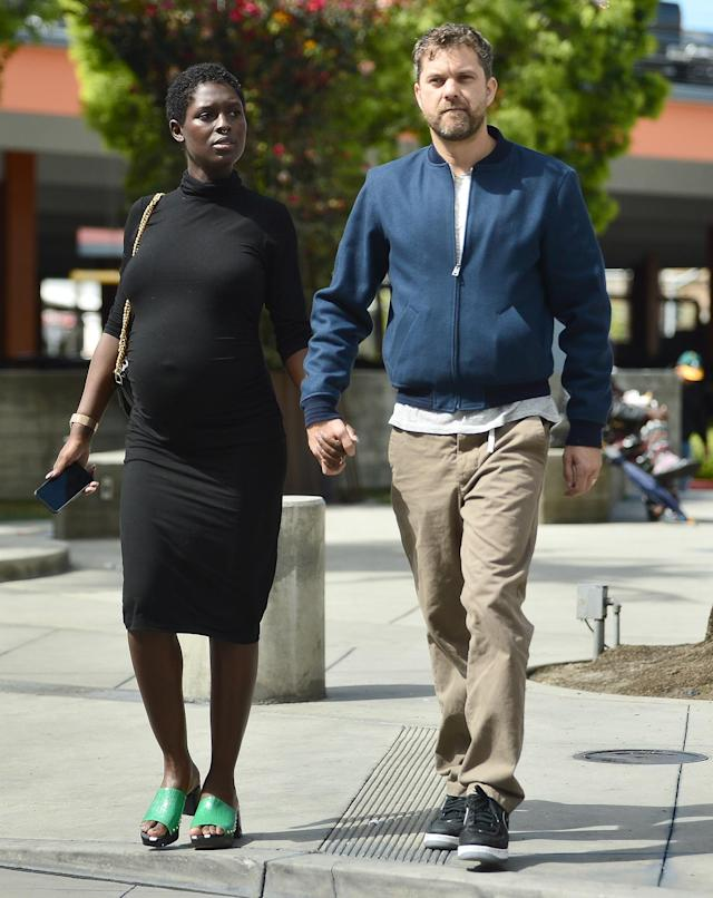 <p>Parents-to-be Joshua Jackson and Jodie Turner-Smith take a stroll in Los Angeles on Thursday.</p>