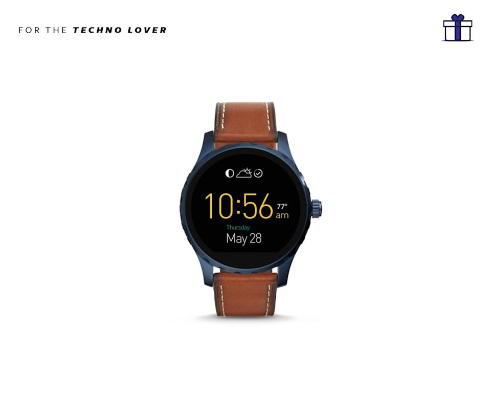 """<p>Keep your life together in the form of a watch! Stylish and functional. Fossil Q Marshal Touchscreen Brown Leather Smartwatch, $295, <a href=""""https://www.fossil.com/us/en/products/q-marshal-touchscreen-brown-leather-smartwatch-sku-ftw2106p.html"""" rel=""""nofollow noopener"""" target=""""_blank"""" data-ylk=""""slk:fossil.com"""" class=""""link rapid-noclick-resp"""">fossil.com</a> </p>"""