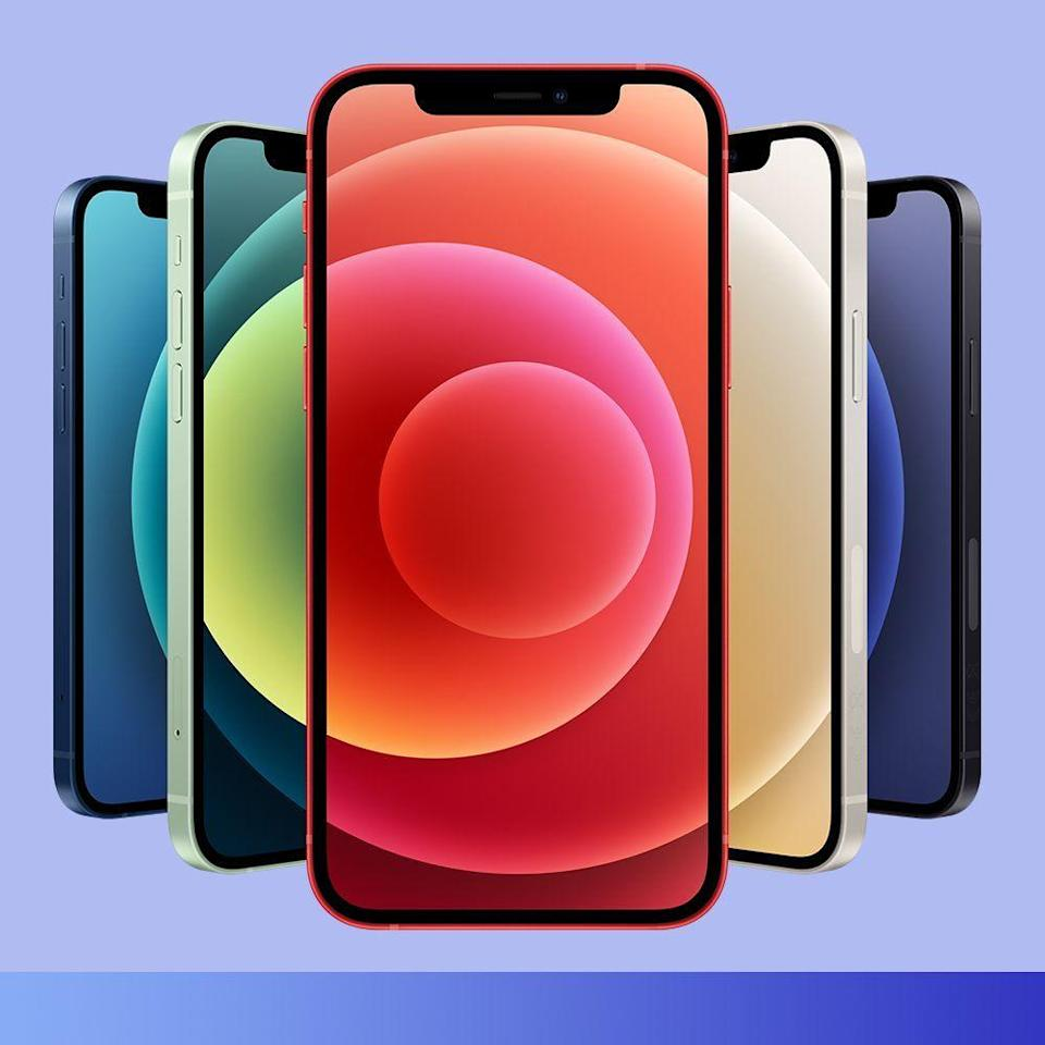 """<p><strong>Apple</strong></p><p>amazon.com</p><p><strong>$829.00</strong></p><p><a href=""""https://www.amazon.com/Apple-iPhone-Locked-Carrier-Subscription/dp/B08L5NZHK6/?tag=syn-yahoo-20&ascsubtag=%5Bartid%7C2089.g.376%5Bsrc%7Cyahoo-us"""" rel=""""nofollow noopener"""" target=""""_blank"""" data-ylk=""""slk:Shop Now"""" class=""""link rapid-noclick-resp"""">Shop Now</a></p><p>The iPhone is a perennial best gift. And the iPhone 12 — <a href=""""https://www.bestproducts.com/tech/a34412619/apple-iphone-12-review/"""" rel=""""nofollow noopener"""" target=""""_blank"""" data-ylk=""""slk:which we happen to think is the best iPhone to date"""" class=""""link rapid-noclick-resp"""">which we happen to think is the best iPhone to date</a> — will brighten anyone's Christmas morning. </p><p>It brings welcome improvements, including 5G network connectivity, a vastly more sophisticated camera setup, and MagSafe tech. The new iPhone also comes in a slew of eye-catching colors to match anyone's unique style. </p>"""