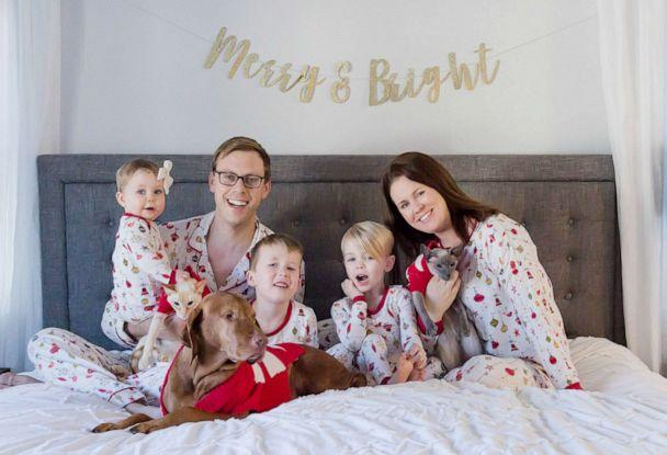 PHOTO: Sarah Buckley Friedberg of Needham, Mass., is photographed on Christmas with her husband, Michael Friedberg and their children, Liam, 6, Caden, 3 and Harper, 1. (Sarah Buckley Friedberg)