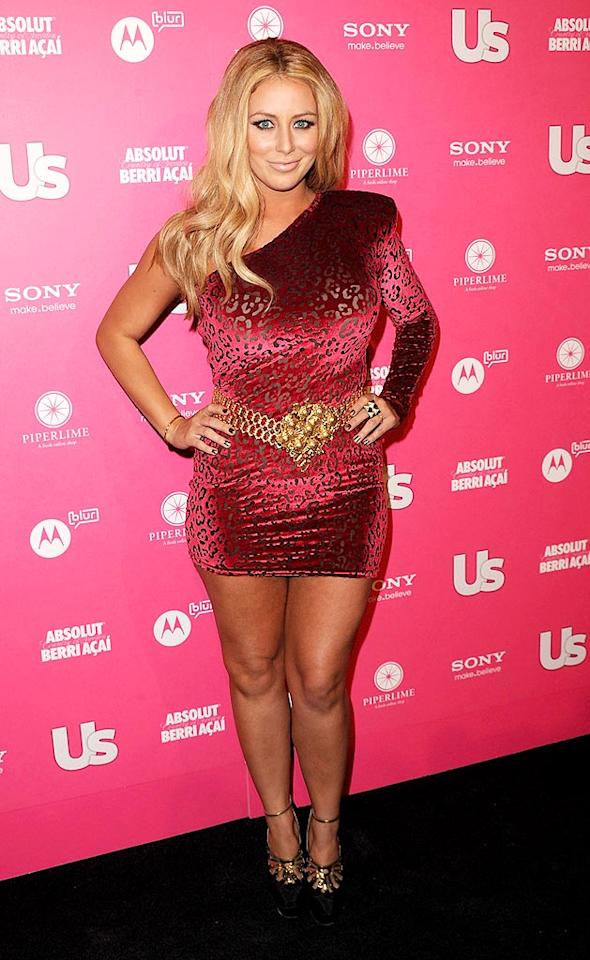 "Former Danity Kane member Aubrey O'Day donned an unfortunate ill-fitting frock on the red carpet. Jason Merritt/<a href=""http://www.gettyimages.com/"" target=""new"">GettyImages.com</a> - April 22, 2010"