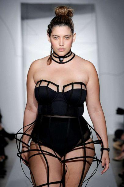 PHOTO: Model Denise Bidot walks the runway at the Chromat SS15 Formula 15 fashion show at The Standard Hotel on September 4, 2014, in New York. (Jp Yim/JP Yim/Getty Images For Chromat, FILE)