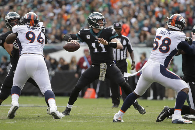 Philadelphia Eagles QB Carson Wentz has had a fantastic first half of this season. (AP)