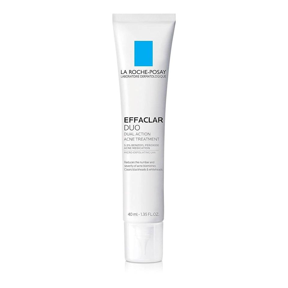 <p>You used to have to visit your dermatologist to get a prescription for a topical treatment as good as the <span>La Roche-Posay Effaclar Duo Dual Action Acne Treatment</span> ($30), but not anymore. It contains 5.5 percent benzoyl peroxide to target pimples without being too irritating on the skin. </p>