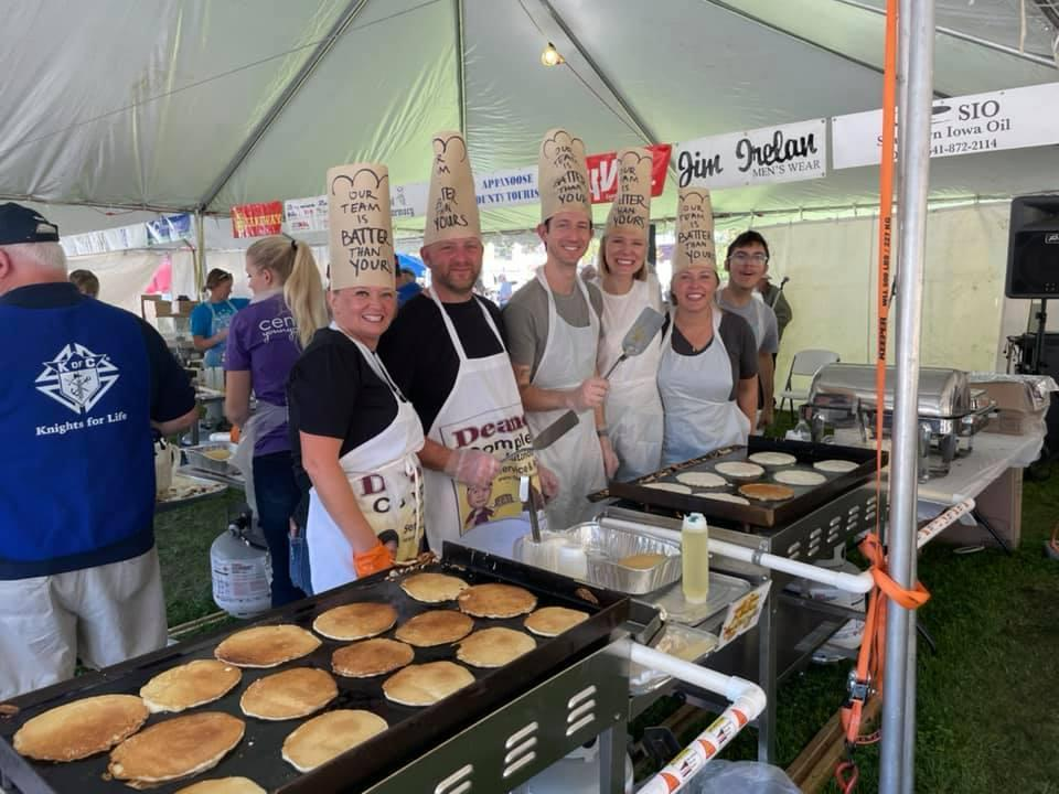 Residents in Centerville, Iowa, broke a Guinness World Record on Saturday for the most pancakes served at a single time (14,280).