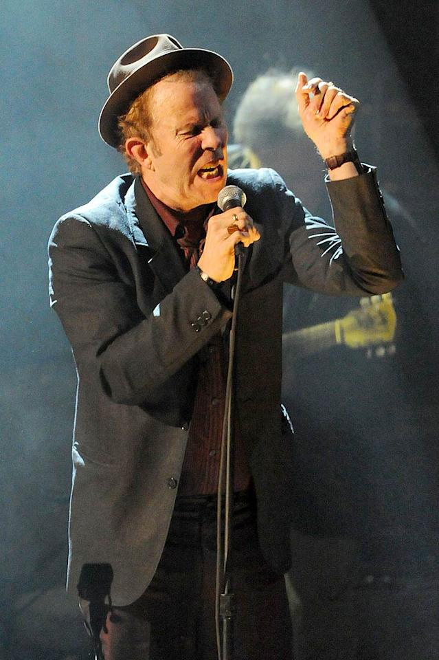 "Tom Waits was also one of the night's eight inductees. The singer squeezed in a three-song set for the crowd. Jeff Kravitz/<a href=""http://filmmagic.com/"" target=""new"">FilmMagic.com</a> - March 14, 2011"