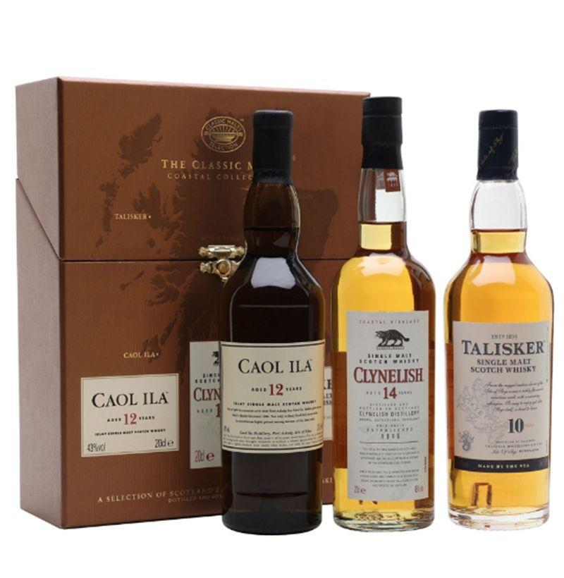 "<p><strong>Classic Malts Collection</strong></p><p>thewhiskyexchange.com</p><p><a href=""https://go.redirectingat.com?id=74968X1596630&url=https%3A%2F%2Fwww.thewhiskyexchange.com%2Fp%2F7627%2Fclassic-malts-coastal-collection-3x20cl&sref=http%3A%2F%2Fwww.esquire.com%2Ffood-drink%2Fdrinks%2Fg29390492%2Fbest-alcohol-gifts%2F"" target=""_blank"">Buy</a></p><p><strong>$45.08 </strong></p><p>This three-bottle collection is great for the scotch whisky connoisseur who knows their Island single malts from their Lowlands.</p>"