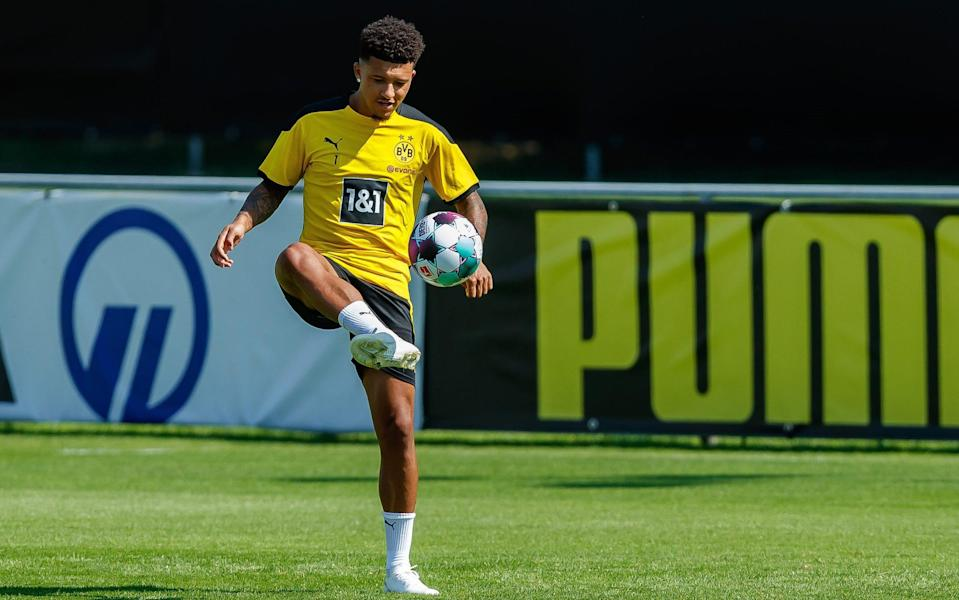 Jadon Sancho training with Borussia Dortmund - GETTY IMAGES