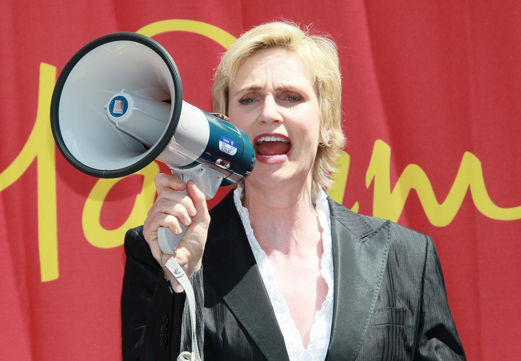 """Following the news that Proposition 8, California's same-sex marriage ban had been lifted, """"Glee's"""" Jane Lynch told """"Access Hollywood,"""" """"It's a wave you can't stop. It's going to happen and people have to just come along."""" David Livingston/<a href=""""http://www.gettyimages.com/"""" target=""""new"""">GettyImages.com</a> - August 4, 2010"""