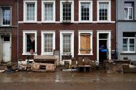 Aftermaths after flood in Belgium
