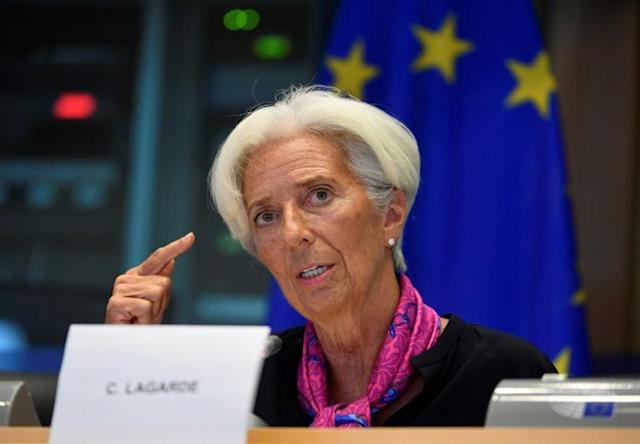 Incoming ECB president Christine Lagarde has urged eurozone leaders to strengthen their economic policies (AFP Photo/JOHN THYS)