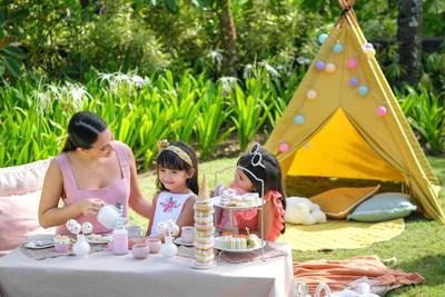 Experience a whimsical Tiny Afternoon Tea, set up with an enchanting teepee tent for young Luminaries at the comfort of your villa.