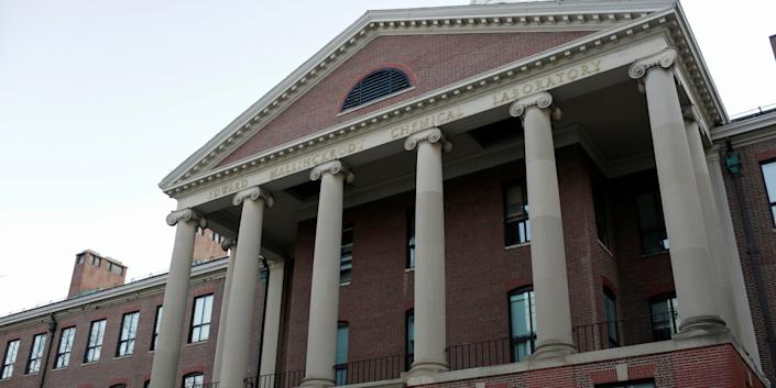 FILE PHOTO: The exterior of The Department of Chemistry and Chemical Biology at Harvard University. The head of the department, Dr. Charles Lieber, is charged with lying to the federal authorities in connection with aiding China, at Harvard University in Cambridge, Massachusetts, U.S. January 30, 2020. REUTERS/Katherine Taylor