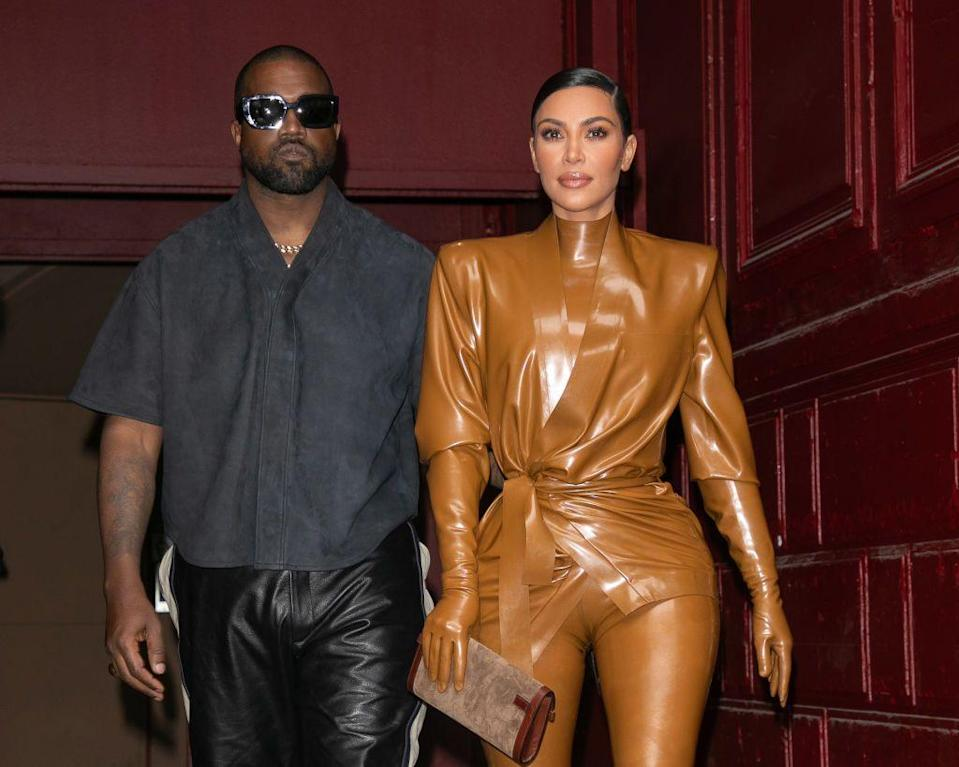 <p>The couple attended West's Sunday service in Paris before heading to the Balenciaga show.</p>