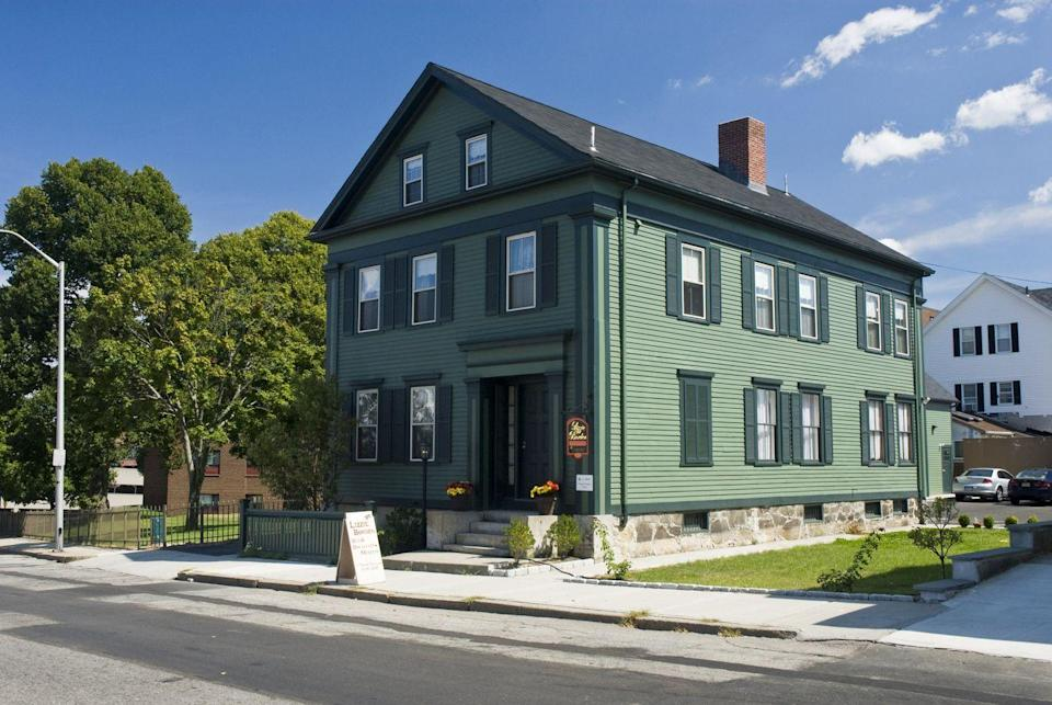 """<p>Eerie sightings are the norm at the home-turned-inn of infamous alleged murderer Lizzie Borden. Can't make the trek to Fall River? Login to one of the properties four """"Ghost Cams"""" and checkout the paranormal activities in real time.</p><p><a class=""""link rapid-noclick-resp"""" href=""""https://go.redirectingat.com?id=74968X1596630&url=https%3A%2F%2Fwww.tripadvisor.com%2FHotel_Review-g41564-d115165-Reviews-Lizzie_Borden_Bed_and_Breakfast-Fall_River_Massachusetts.html&sref=https%3A%2F%2Fwww.countryliving.com%2Flife%2Ftravel%2Fg2689%2Fmost-haunted-hotels-in-america%2F"""" rel=""""nofollow noopener"""" target=""""_blank"""" data-ylk=""""slk:PLAN YOUR TRIP"""">PLAN YOUR TRIP</a><br></p>"""