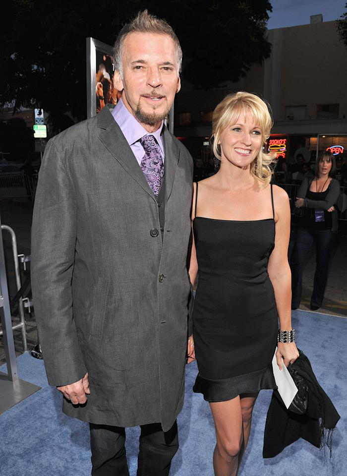 """<a href=""""http://movies.yahoo.com/movie/contributor/1800084900"""">Kenny Loggins</a> and guest at the Los Angeles premiere of <a href=""""http://movies.yahoo.com/movie/1810164562/info"""">Footloose</a> on October 3, 2011."""