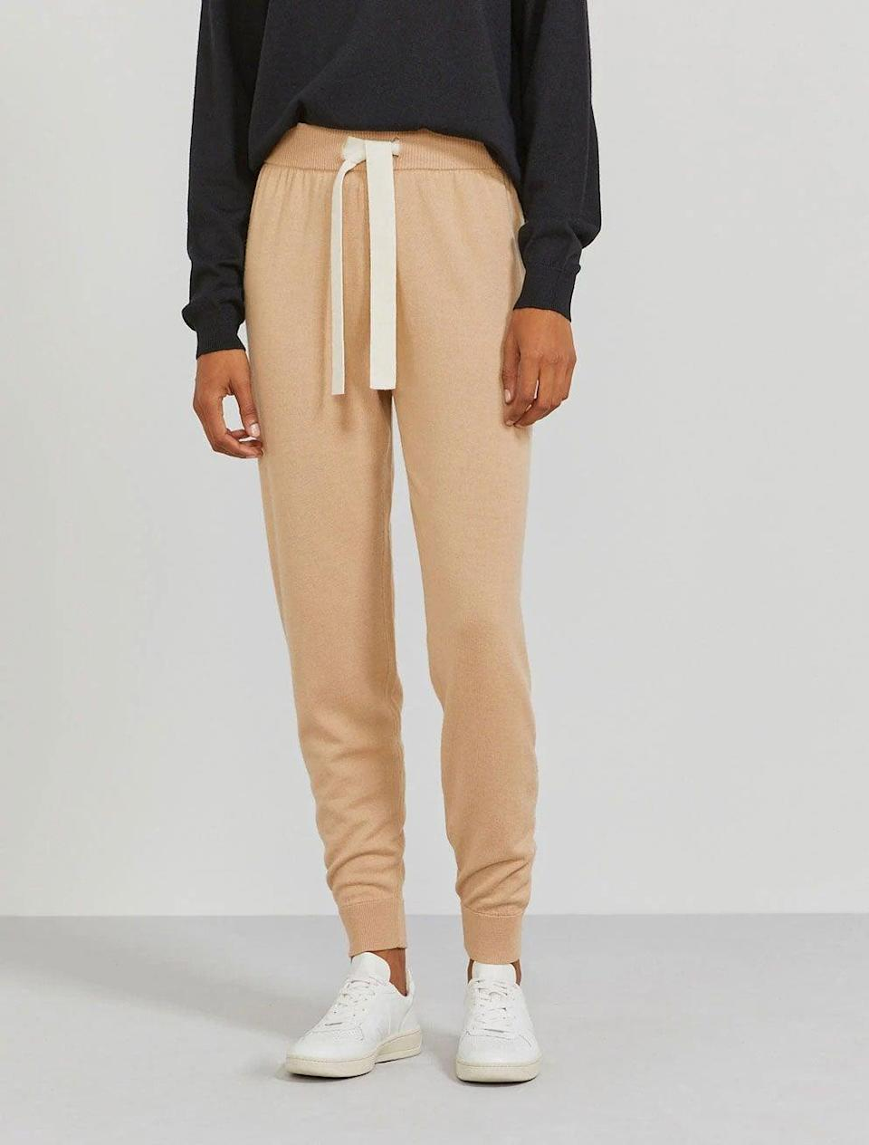 """<br><br><strong>Ninety Percent</strong> Merino Wool Boy-fit Trackpant, $, available at <a href=""""https://ninetypercent.com/collections/loungewear/products/merino-boyfit-trackpant"""" rel=""""nofollow noopener"""" target=""""_blank"""" data-ylk=""""slk:Ninety Percent"""" class=""""link rapid-noclick-resp"""">Ninety Percent</a>"""