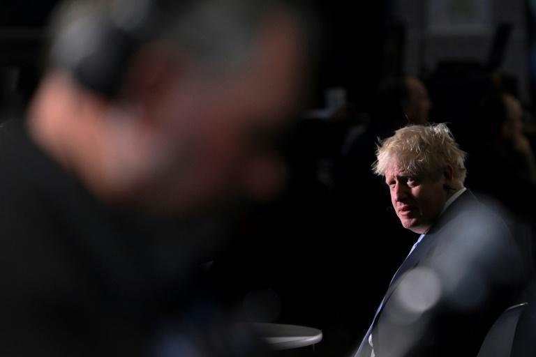 Johnson is expected to explain Britain's current problems as unavoidable to reset the economy post-Brexit (AFP/Paul ELLIS)