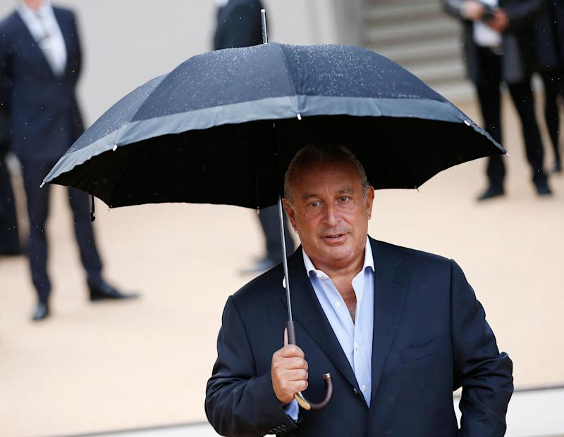 CEO of Arcadia Group Philip Green arrives at the Burberry Spring/Summer 2014 collection at London Fashion Week September 16, 2013. REUTERS/Olivia Harris (BRITAIN - Tags: FASHION BUSINESS)