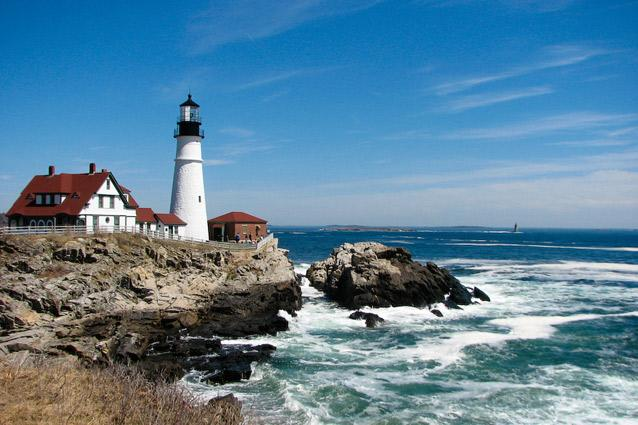 Portland Head Light, Maine, USA. Photo: Andre Sa - The former lighthouse keeper's cabin now operates as a museum, stocking a collection of old lenses. The museum is open every day between Memorial Day and 31 October and weekends-only between mid-April and Memorial Day and November to mid-December.
