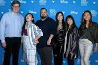 "The team behind ""Raya and the Last Dragon"" -- (L-R) Dean Wellins, Awkwafina, Paul Briggs, Cassie Steele, Osnat Shurer, and Adele Lim, seen here in 2019 -- hope the film will help bring understanding amid attacks on Asian-Americans"