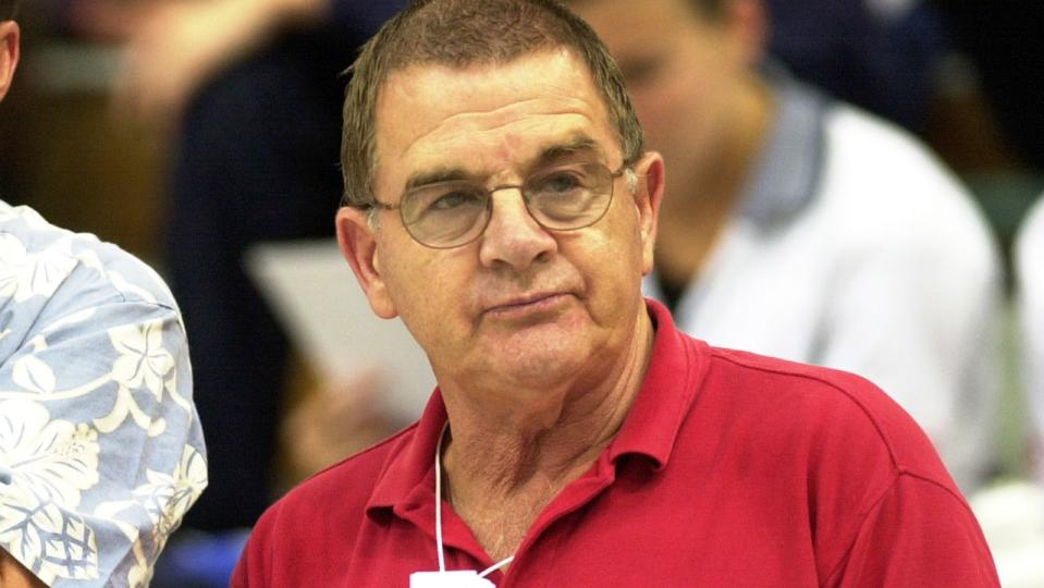 Don Talbot is pictured here at the FINA World Cup of Swimming in 2000.