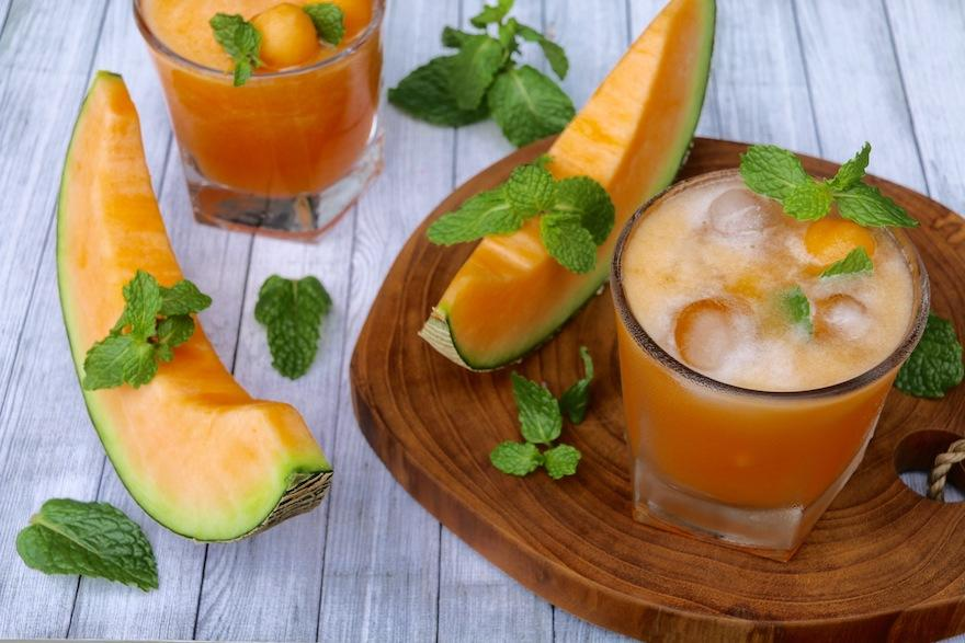<p>With the temperatures starting to soar, afternoons call for coolers. This one is especially delicious and an interesting combination taken from the Mexicans.<br />Ingredients<br /> 4 cups of chopped cantaloupe aka muskmelon<br /> 1 cup of fresh tender coconut water<br /> 3 tbsp lemon juice<br /> a pinch of rock salt<br /> handful of fresh mint leaves<br />Method<br /> Blend the cantaloupe, coconut water, lemon juice, rock salt and mint leaves until smooth.<br /> Pour in a tumbler with ice and garnish with fresh mint leaves.<br /> Photograph: Aryani Tedjo/Shutterstock.com </p>