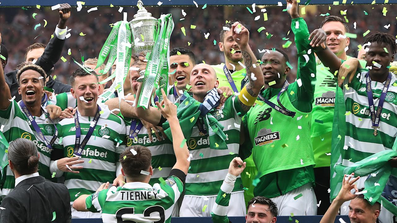 The charismatic defender was given a brilliant welcome after Tomas Rogic gave Celtic a dramatic win against Aberdeen and secured a domestic treble