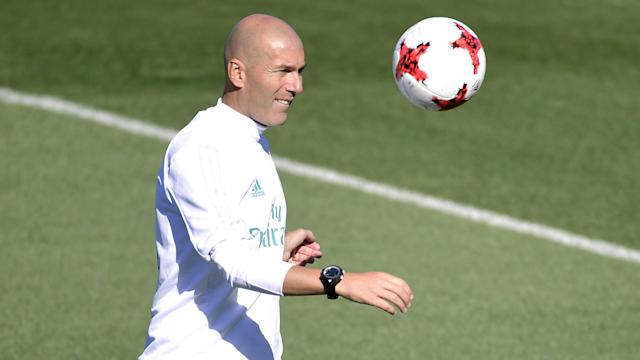 Zinedine Zidane Real Madrid training session