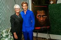 <p>Jamie Lee Curtis hangs with godson Jake Gyllenhaal on Sept. 21 at a special screening of his film <em>The Guilty</em> at the San Vicente Bungalows in L.A. </p>