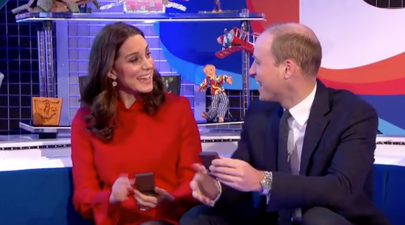Kate and Wills were all smiles on the children's show. Photo: BBC