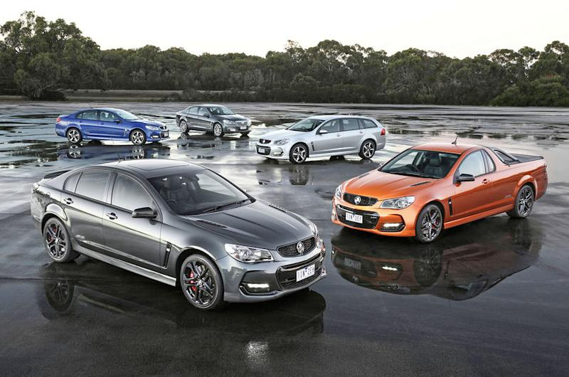 Holden Commodores as the car brand bows out of Australia. (Source: autocar.co.uk)