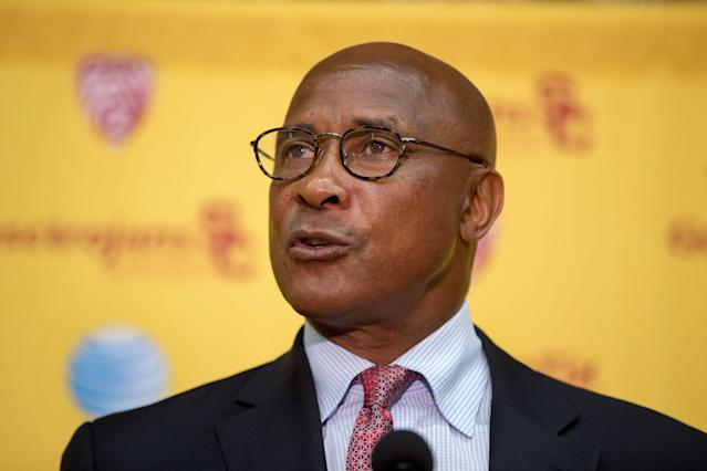 University of Southern California athletic director Lynn Swann cares little about public perception, but cleared up why he signed autographs this month. (AP)