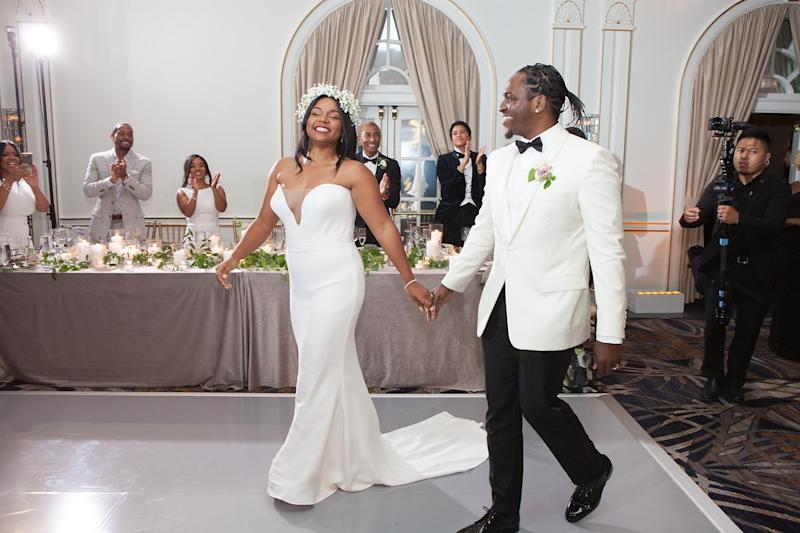 Terrence Thornton, aka Pusha T, married his partner of 11 years, Virginia Williams, in their hometown of Virginia Beach. The ceremony also happened to mark Dior Homme newbie Kim Jones's first foray into bridal design.