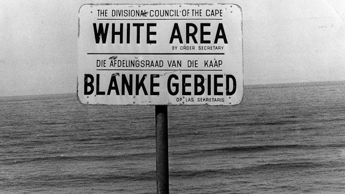 Sign saying 'White Area""