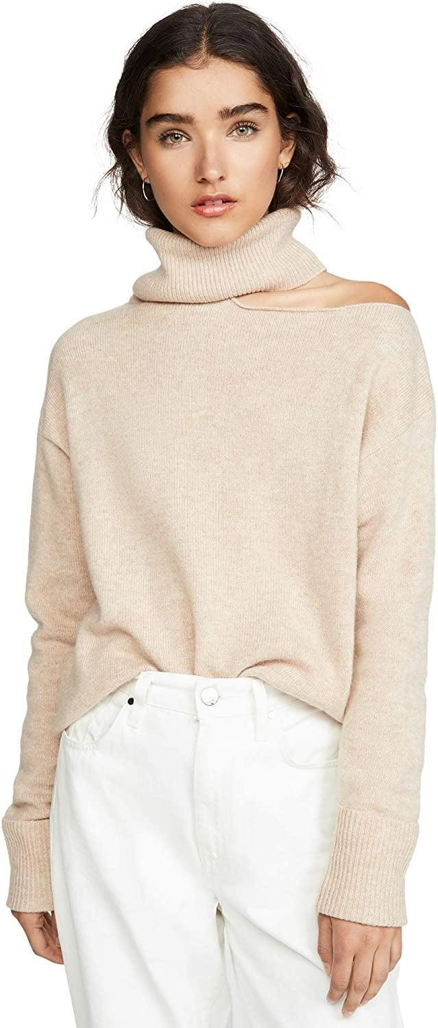 <p>Show barely a hint of skin on your shoulder thanks to any option of this lovely <span>Paige Women's Raundi Sweater</span> ($178-$269) from cream to cranberry.</p>