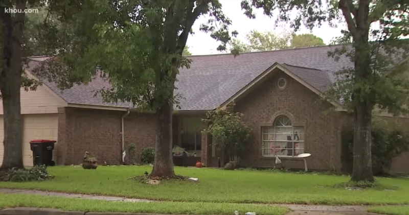 The family home in Katy where Mr Estorffe was fatally shot. Source: KHOU
