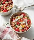 """<p><strong>Recipe: </strong><a href=""""https://www.southernliving.com/recipes/toasted-couscous-tomato-salad-recipe"""" rel=""""nofollow noopener"""" target=""""_blank"""" data-ylk=""""slk:Toasted Couscous and Tomato Salad"""" class=""""link rapid-noclick-resp""""><strong>Toasted Couscous and Tomato Salad</strong></a></p> <p>Pack this summer salad in a mason jar for the perfect healthy picnic lunch.</p>"""