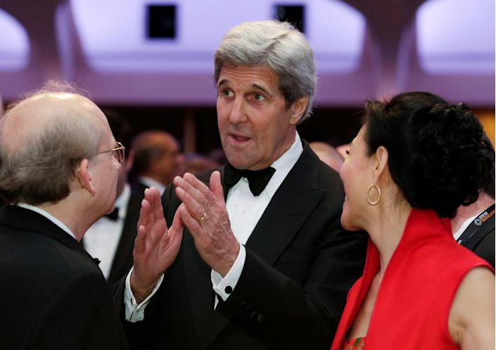<p>Secretary of State John Kerry attends the White House Correspondents' Dinner, April 30. <i>(Photo: Yuri Gripas/Reuters)</i></p>