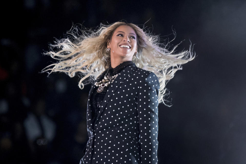 Beyonce and Jay-Z used the World Cup to spice up their show in Paris. (AP Photo/Andrew Harnik, File)