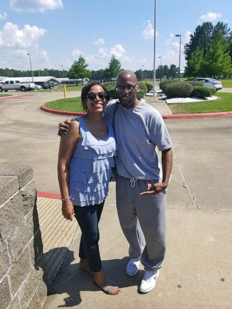 PHOTO: Al Reed poses with his sister Janice on the day of his release from federal prison in May 2019. (Courtesy The Decarceration Collective)