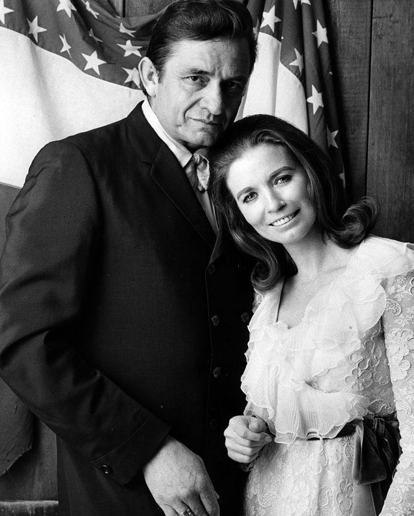 """<p>June Carter and Johnny Cash often performed country duets together. In 1968, Cash proposed to Carter during a live performance at the London Ice House in Ontario. The <a href=""""http://theboot.com/johnny-cash-proposes-june-carter/"""" rel=""""nofollow noopener"""" target=""""_blank"""" data-ylk=""""slk:wedding took place"""" class=""""link rapid-noclick-resp"""">wedding took place</a> on March 1, 1968 and they stayed married until her death in May 2003. </p>"""