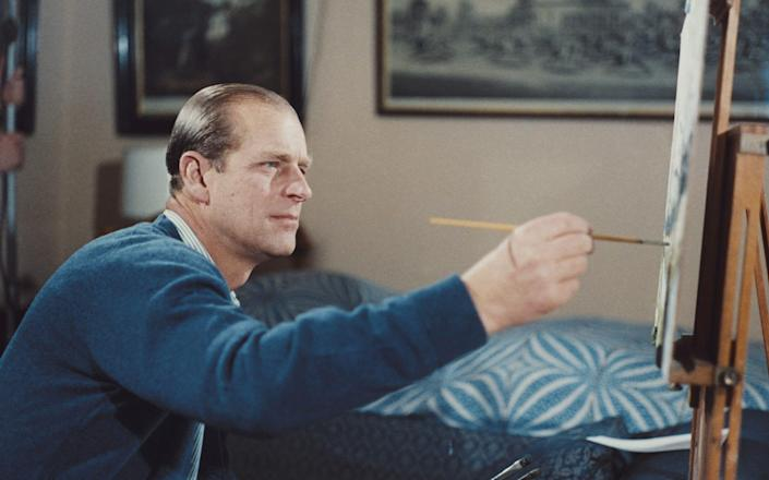 Retirement allowed Prince Philip to continue his lifelong love of painting.