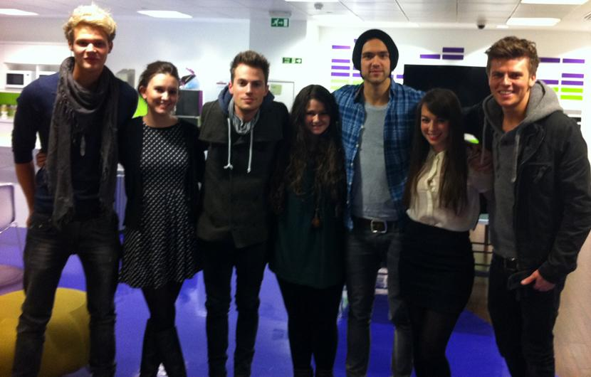 Celebrity photos: Our hearts skipped a beat (Olly Murs style) when Lawson popped in to see us – swoon!