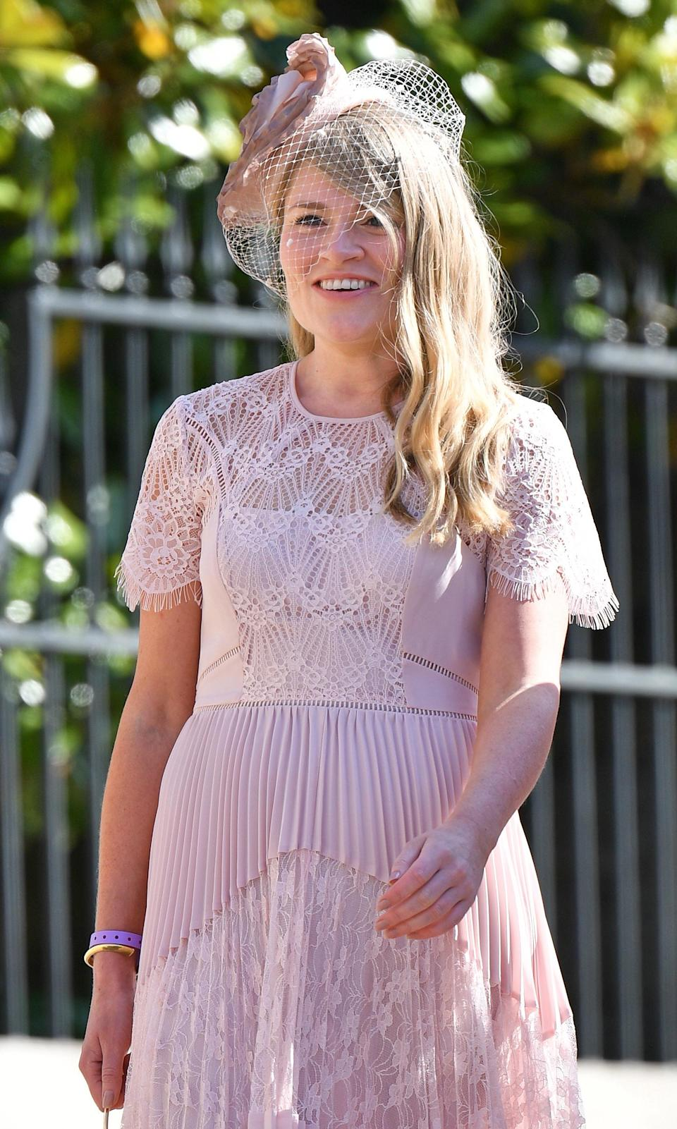 Amy Pickerill at the royal wedding. [Photo: Getty]