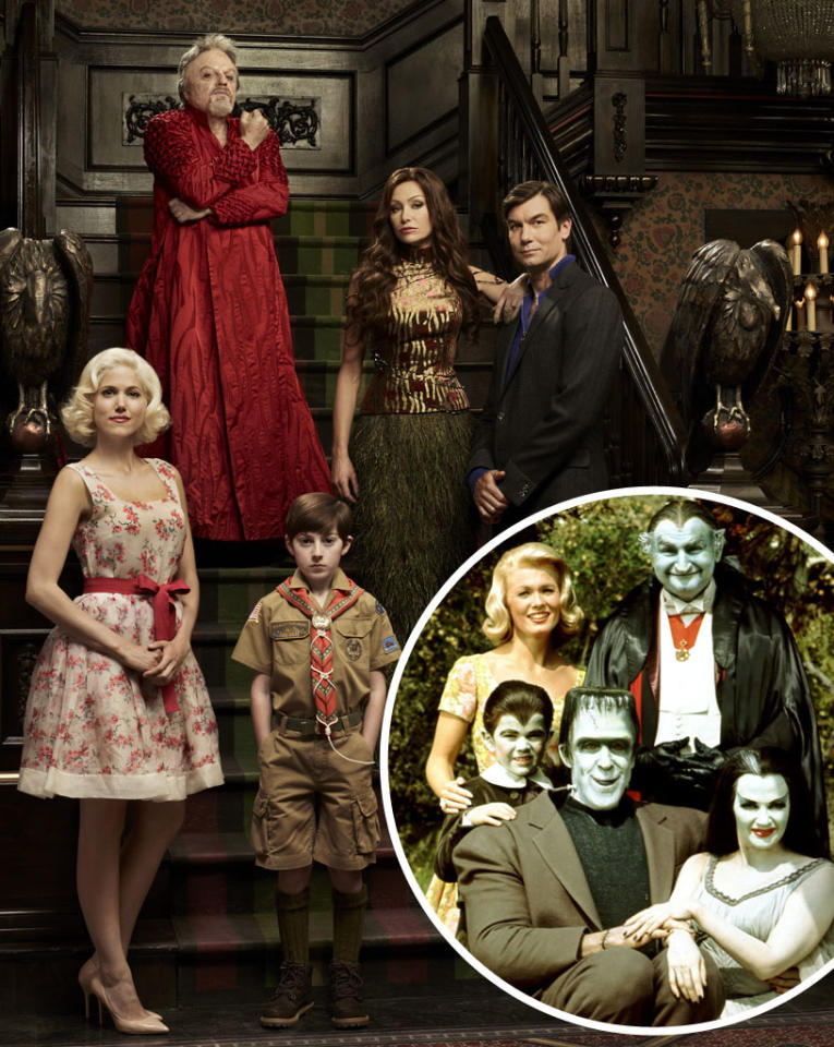"These aren't your daddy's ""Munsters."" <a href=""http://tv.yahoo.com/photos/mockingbird-lane-cast-slideshow/"">We told you a few months back</a> that NBC was reviving the classic 1960s sitcom about a family of horror-movie monsters and turning it into a dark drama called ""Mockingbird Lane."" But in the wake of creative differences between the network and creator Bryan Fuller, NBC <a href=""http://tv.yahoo.com/news/nbc-air-munsters-reboot-halloween-special-exclusive-020638846.html"">has decided to scrap the series</a> and turn the $10 million pilot into a stand-alone Halloween special, airing October 26 at 8 PM. <br><br> Here's your first look at the ""Mockingbird Lane"" cast in character: Jerry O'Connell (""Sliders"") as dad Herman; Portia de Rossi (""Arrested Development"") as mom Lily; Eddie Izzard (""The Riches"") as vampire Grandpa; Mason Cook (""Spy Kids in 4D"") as werewolf son Eddie; and British newcomer Charity Wakefield as ""plain"" cousin Marilyn. And as you can see, they look a lot different than the original ""Munsters"" (inset): much more naturalistic, without a hint of the old-school movie-monster makeup. Honestly, we wouldn't even know O'Connell was playing Herman if you hadn't told us. (Though he does have a pretty nasty neck scar, as you'll see in the following photos.) And an Eddie Munster without a widow's peak? Blasphemy!<br><br>Anyway, click through this gallery to see more photos of the new-look Munsters from ""Mockingbird Lane."""
