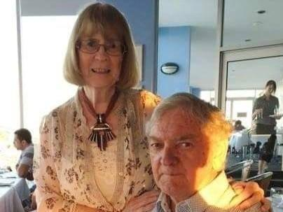 <p>Rita Rich-Mulcahy, 81, and her late husband John Mulcahy. Facebook has apologised after it attempted to ban the widow over pig-related comments the platform mistook for 'hate speech'</p> (Rita Rich-Mulcahy/Facebook)