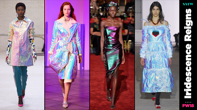 At NYFW, iridescent clothing is a big trend for fall. (Photo: Getty/Art: Quinn Lemmers)